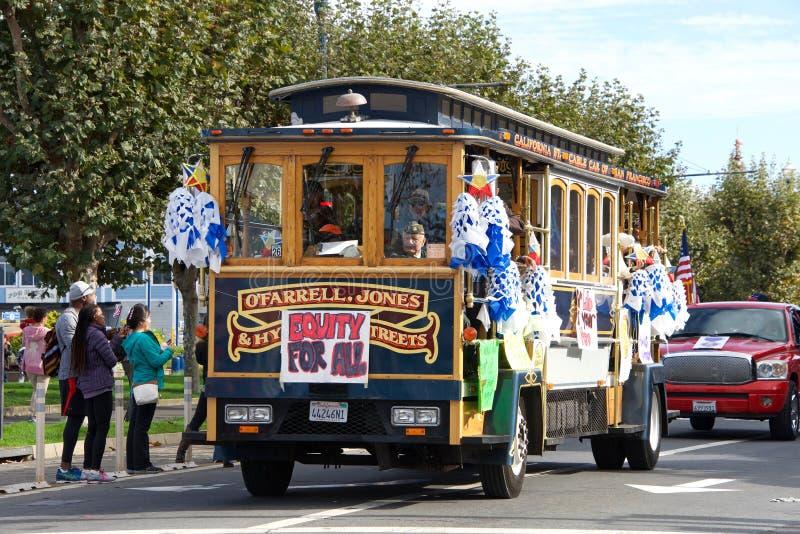 de 97ste Jaarlijkse Parade 2017 San Francisco, CA van de Veteraan` s Dag stock afbeeldingen