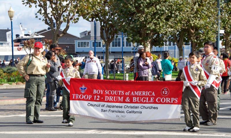 de 97ste Jaarlijkse Parade 2017 San Francisco, CA van de Veteraan` s Dag royalty-vrije stock foto's