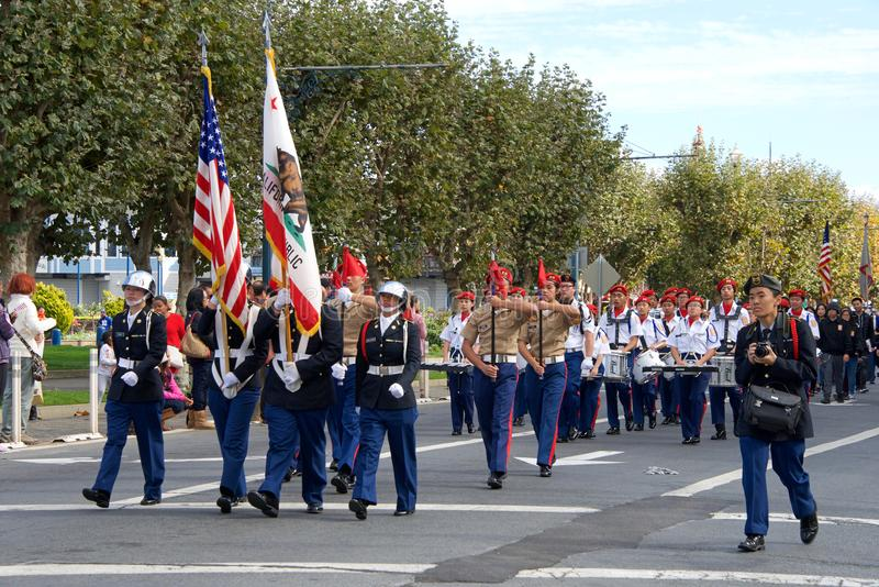 de 97ste Jaarlijkse Parade 2017 San Francisco, CA van de Veteraan` s Dag royalty-vrije stock afbeeldingen