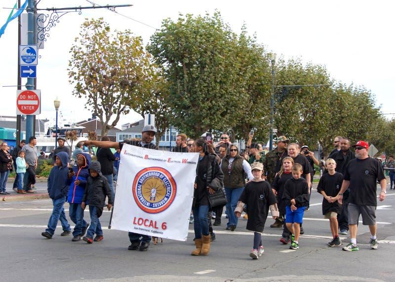 de 97ste Jaarlijkse Parade 2017 San Francisco, CA van de Veteraan` s Dag stock fotografie