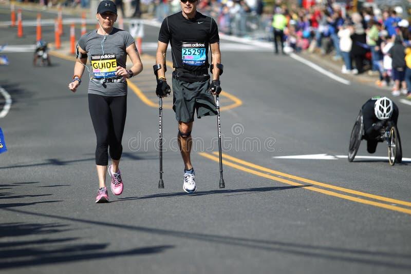 de 118ste Marathon van Boston vond in Boston, Massachusetts, op Maandag, 21 April de Dag 2014 van Patriotten plaats royalty-vrije stock afbeeldingen