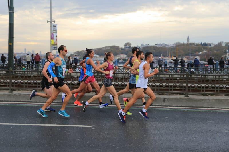 de 39ste Marathon van Istanboel royalty-vrije stock afbeeldingen