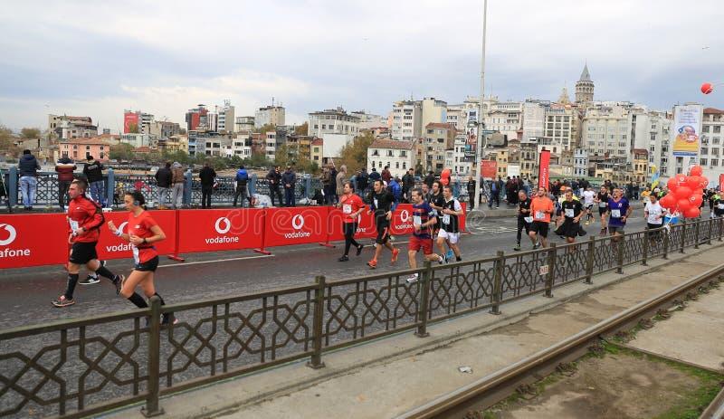 de 39ste Marathon van Istanboel stock afbeeldingen