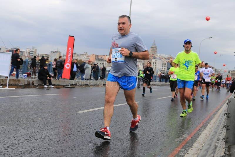 de 39ste Marathon van Istanboel stock afbeelding