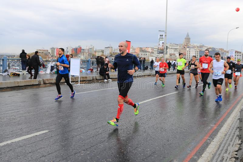 de 39ste Marathon van Istanboel royalty-vrije stock fotografie