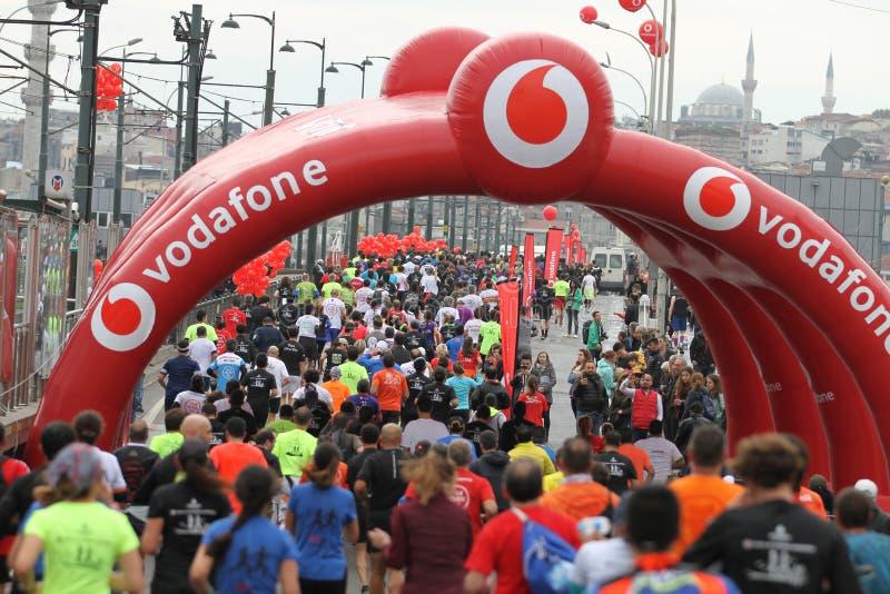 de 39ste Marathon van Istanboel stock fotografie