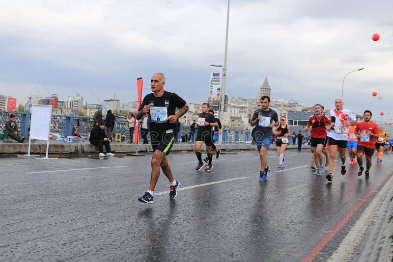 de 39ste Marathon van Istanboel royalty-vrije stock foto
