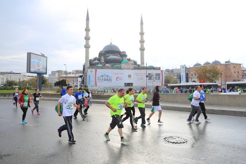 de 39ste Marathon van Istanboel royalty-vrije stock afbeelding