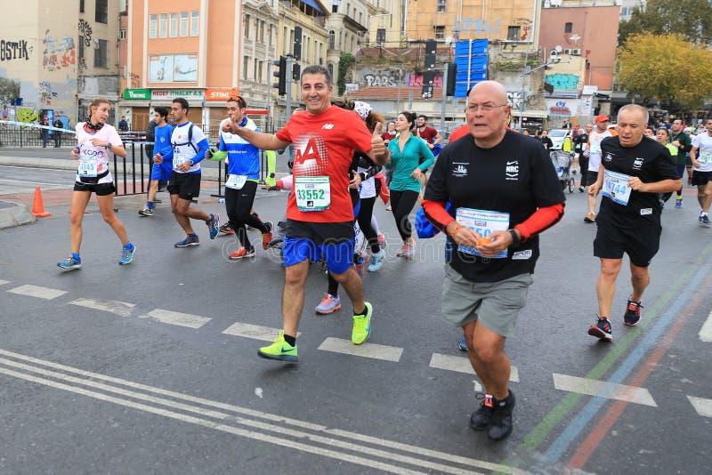 de 39ste Marathon van Istanboel stock foto's