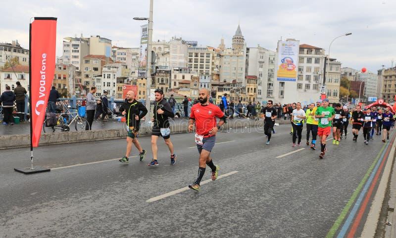 de 39ste Marathon van Istanboel stock foto