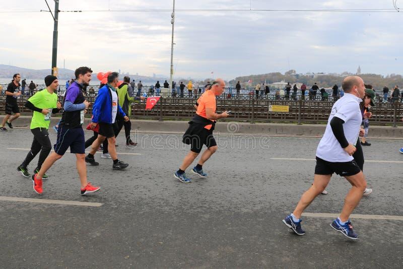 de 39ste Marathon van Istanboel royalty-vrije stock foto's