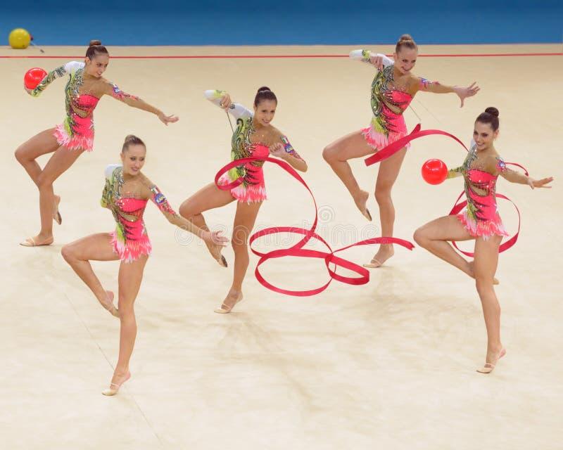de 32ste Ritmische Kampioenschappen van de Gymnastiekwereld royalty-vrije stock foto