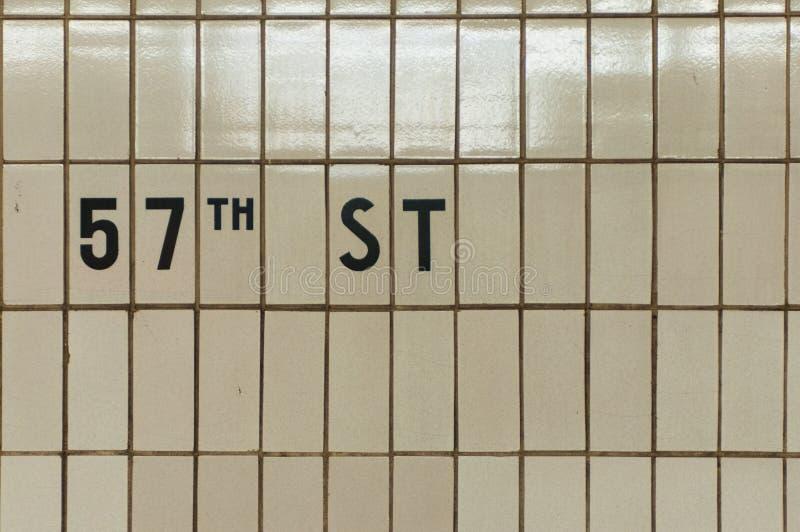 de 57ste Tegels van de Straatmetro stock foto's