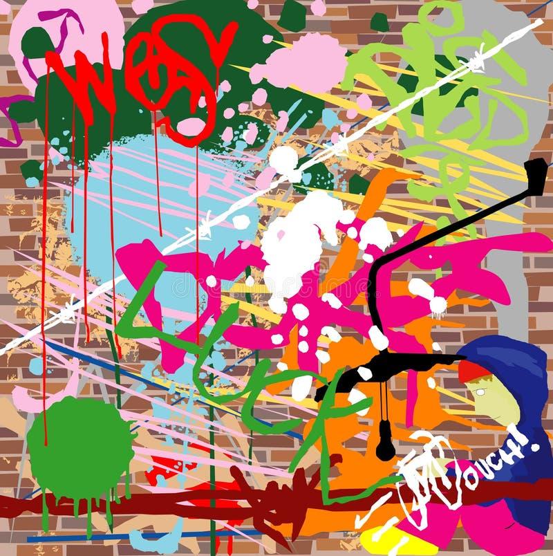 De stedelijke achtergrond van Grunge vector illustratie