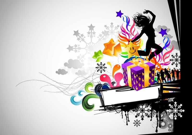 De stedelijke Partij van Kerstmis royalty-vrije illustratie