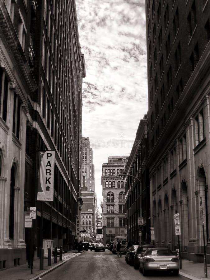 De Stedelijke Straat van de binnenstad van de PA van Philadelphia van de Stad van het Centrum stock foto