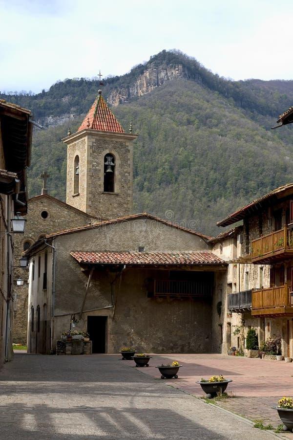 De steden van Catalonië stock afbeeldingen