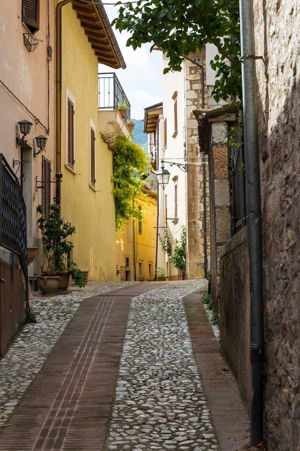 De steeg van Assisi stock afbeelding