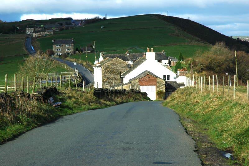 De Steeg van het land in Mossley stock afbeelding