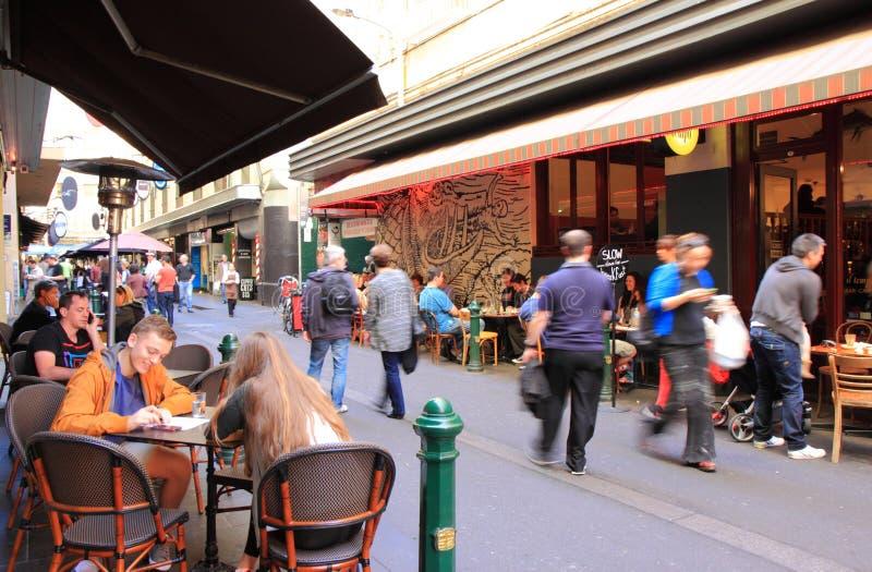 De steegcultuur van Melbourne stock foto