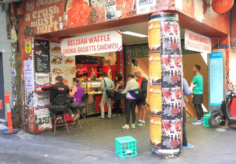 De steegcultuur van Melbourne royalty-vrije stock afbeelding