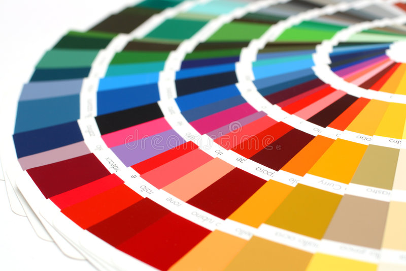 De steekproef RAL kleurt catalogus royalty-vrije stock afbeeldingen
