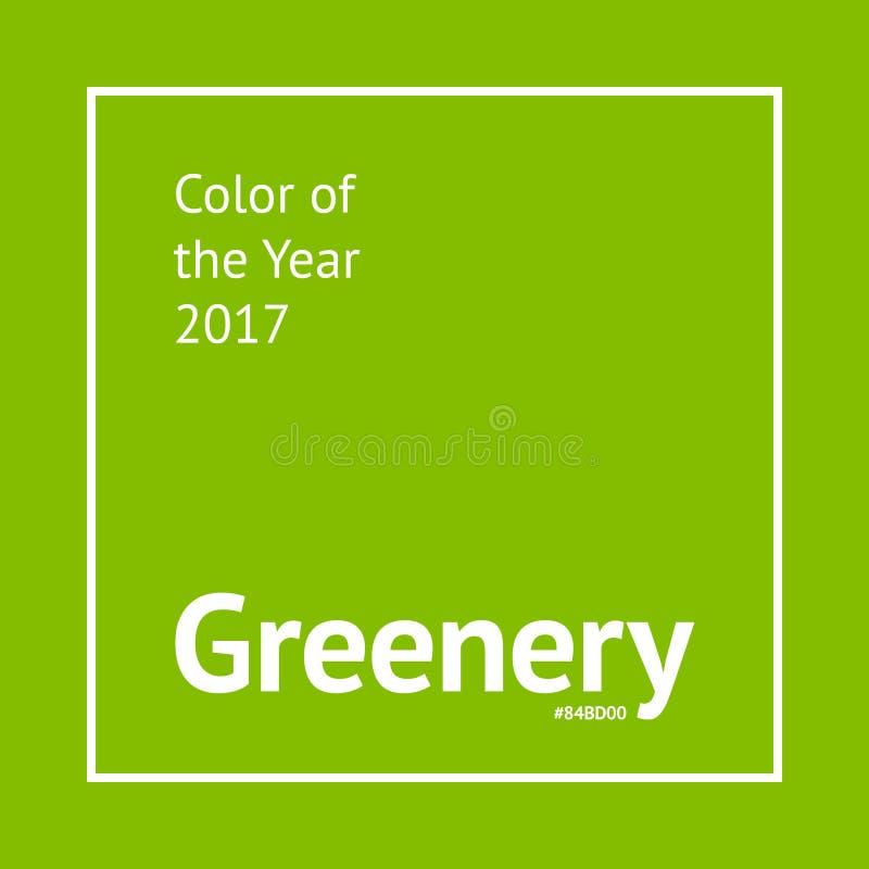De steekproef van de groenkleur royalty-vrije illustratie