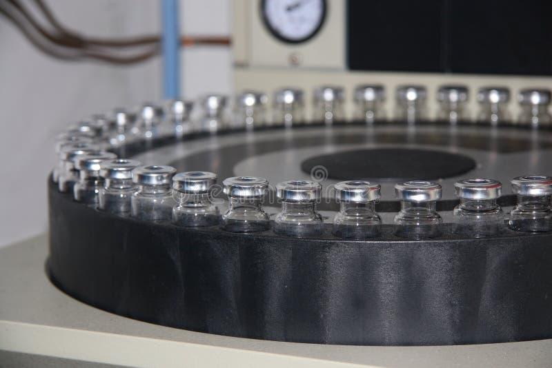De Steekproeven van de chromatografie royalty-vrije stock afbeelding