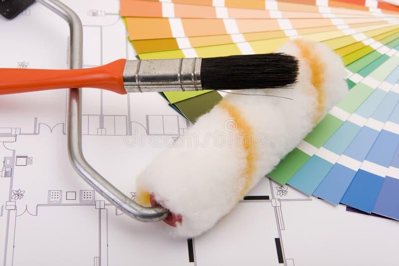 De steekproeven van de kleur stock afbeelding