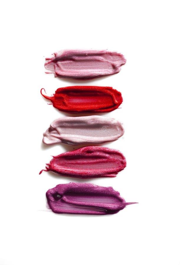 De steekproeven van de lippenstift stock afbeelding