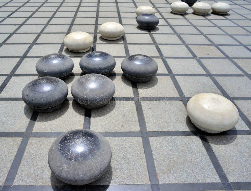 De steen Chinees gaat royalty-vrije stock fotografie