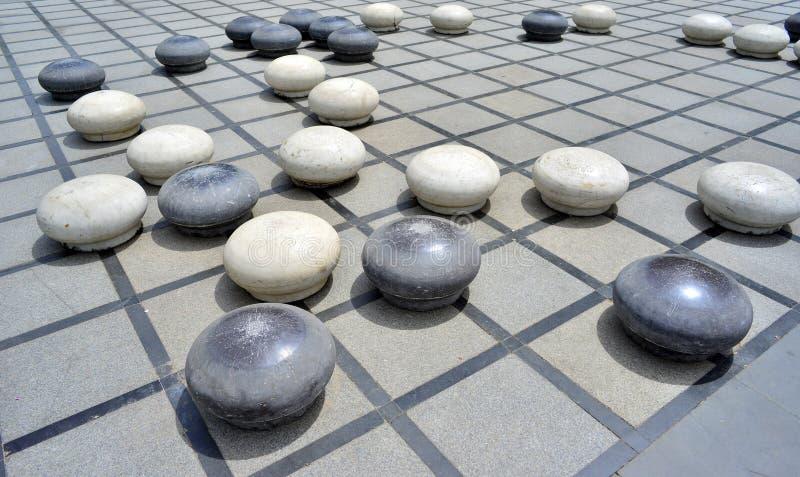 De steen Chinees gaat stock afbeeldingen