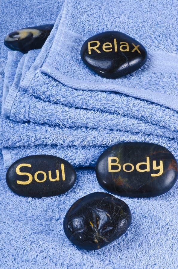 De steen van de massage stock afbeeldingen