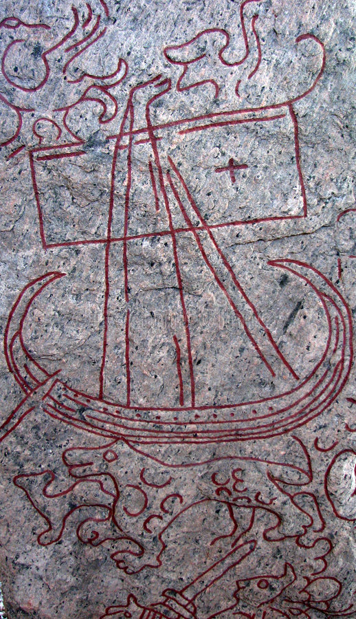 De steen van de rune stock afbeelding