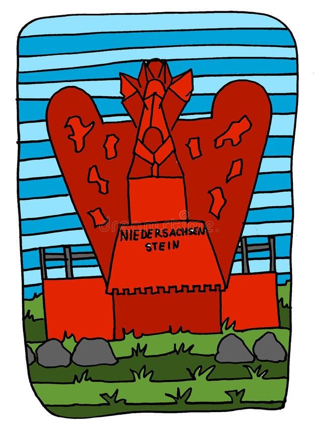 De steen van Nedersaksen stock illustratie