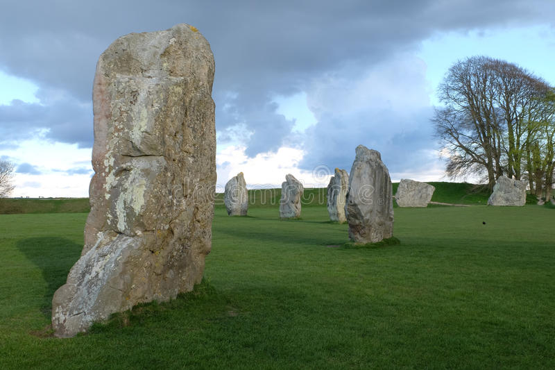 De steencirkel van Avebury royalty-vrije stock foto's