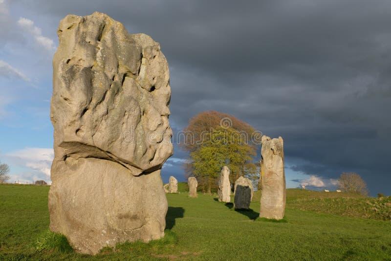 De steencirkel van Avebury stock afbeelding