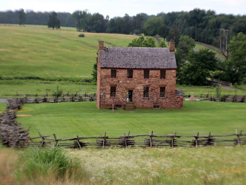 De steenhuis van de burgeroorlogera stock foto