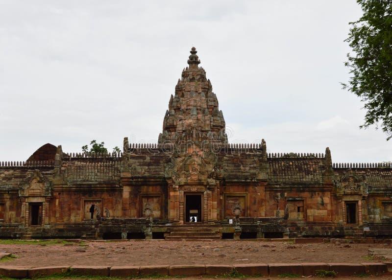 De steenkasteel van de Phanomsport in Thailand stock foto