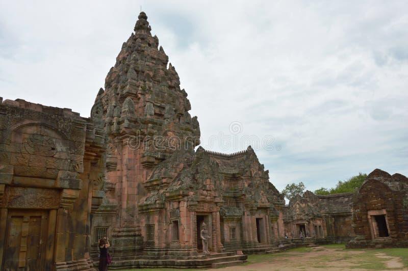 De steenkasteel van de Phanomsport in Thailand royalty-vrije stock afbeelding