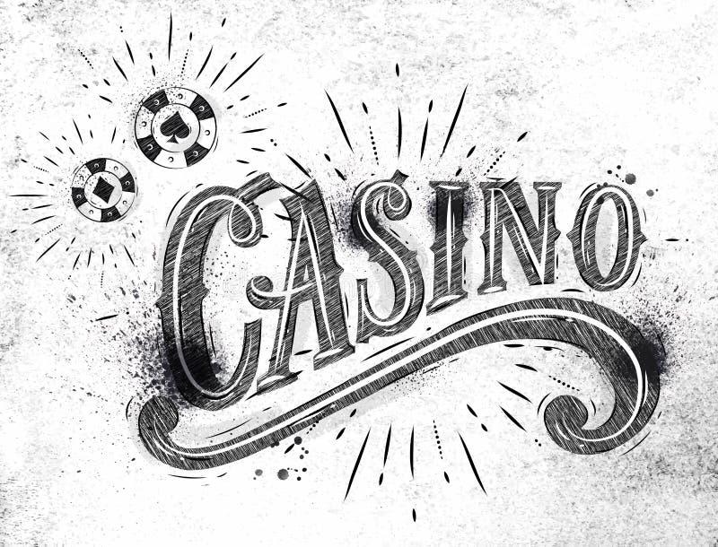 De steenkool van het casinoteken stock illustratie