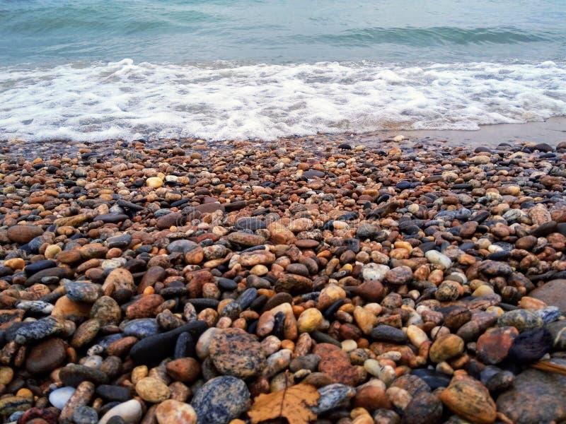 De steenkust van Baikal royalty-vrije stock foto