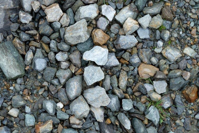 De steenstenen kleurt Grijze berg royalty-vrije stock foto's
