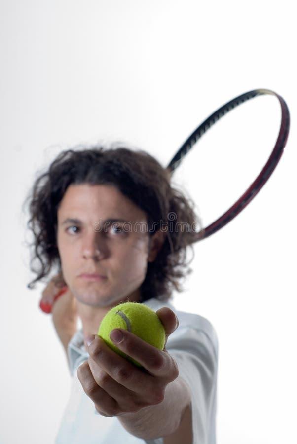 De stellen-Verticaal van de Speler van het tennis stock foto