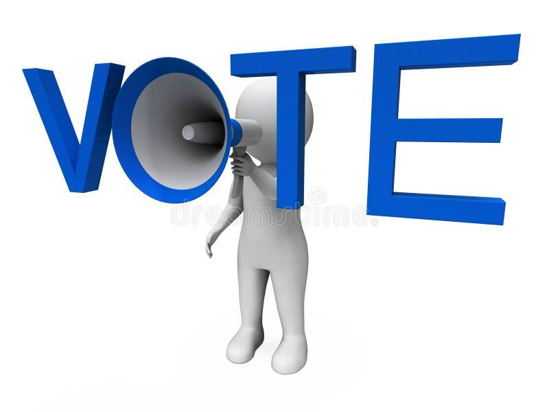 De stem Hailer toont Stemmingsopiniepeiling en het Krijgen stock illustratie