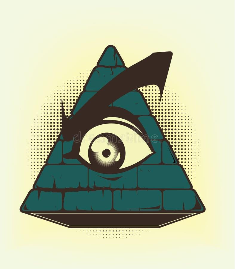 De stem vóór van de piramide stock illustratie
