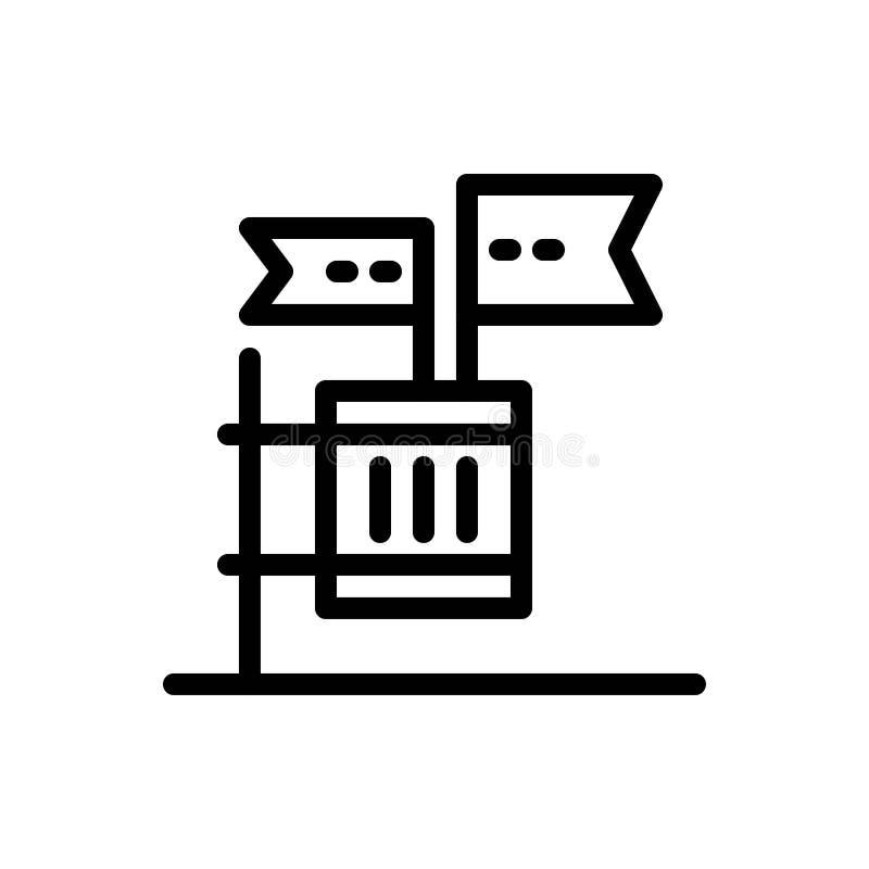 De stemming, de Boycot, de Verkiezing, het Huisvuil, de Troep Blauwe en Rode Download en kopen nu de Kaartmalplaatje van Webwidge royalty-vrije illustratie