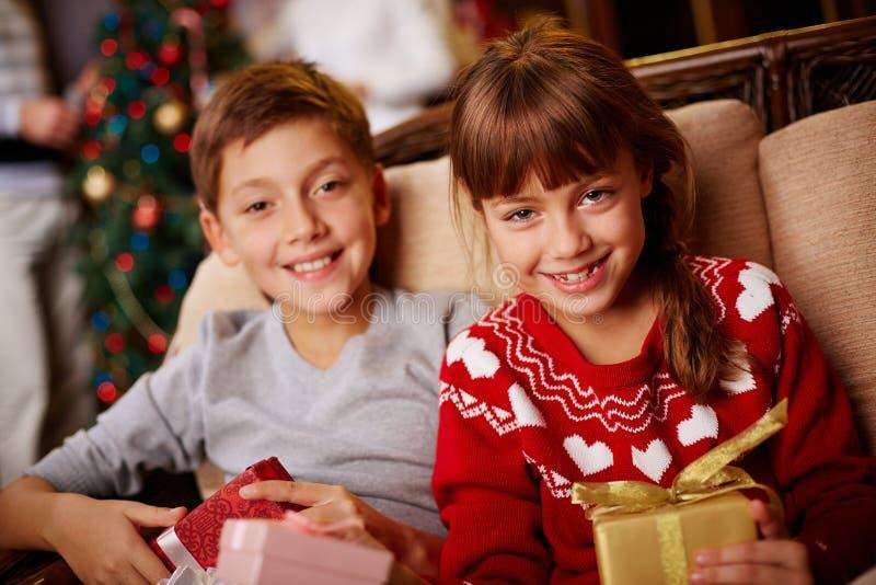 De stemming van Kerstmis stock fotografie