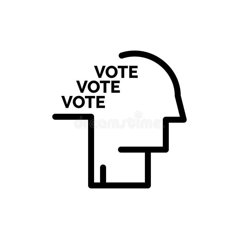 De stemming, de Verkiezing, de Opiniepeiling, het Referendum, de Toespraak Blauwe en Rode Download en kopen nu de Kaartmalplaatje stock illustratie
