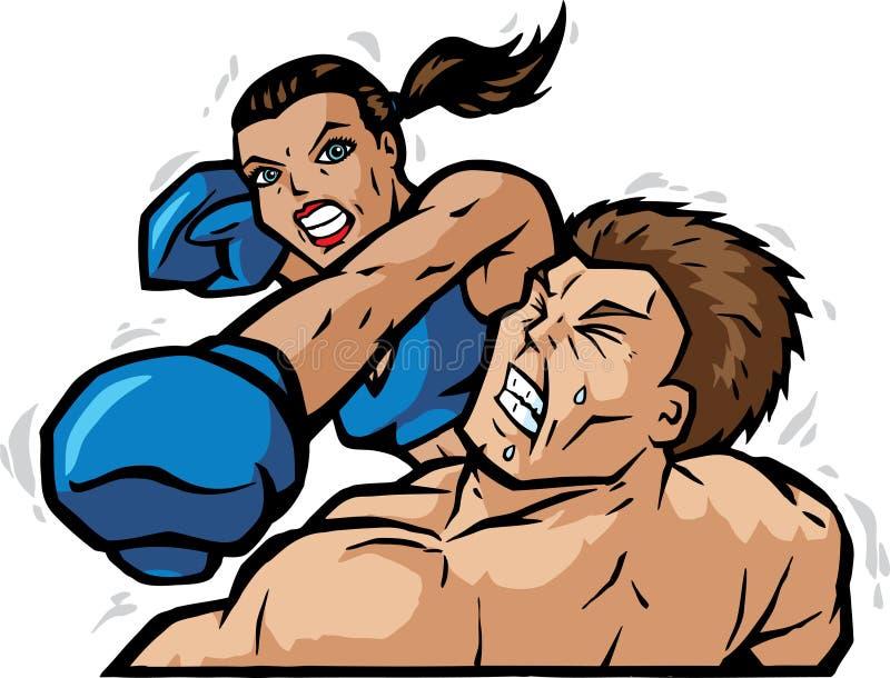 De Stempel van het knockout stock illustratie